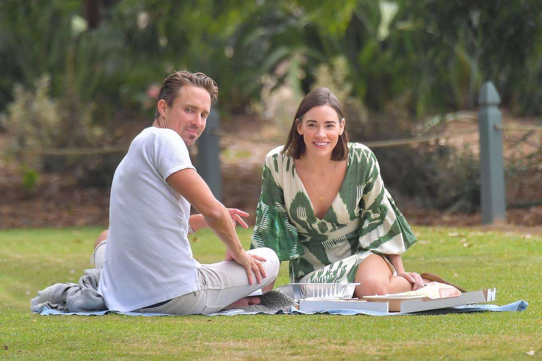 Christa Allen 2020 : Christa Allen – Seen at picnic lunch with a friend in Santa Monica -06