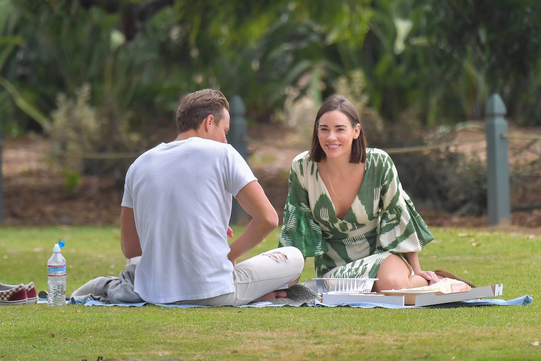 Christa Allen 2020 : Christa Allen – Seen at picnic lunch with a friend in Santa Monica -14