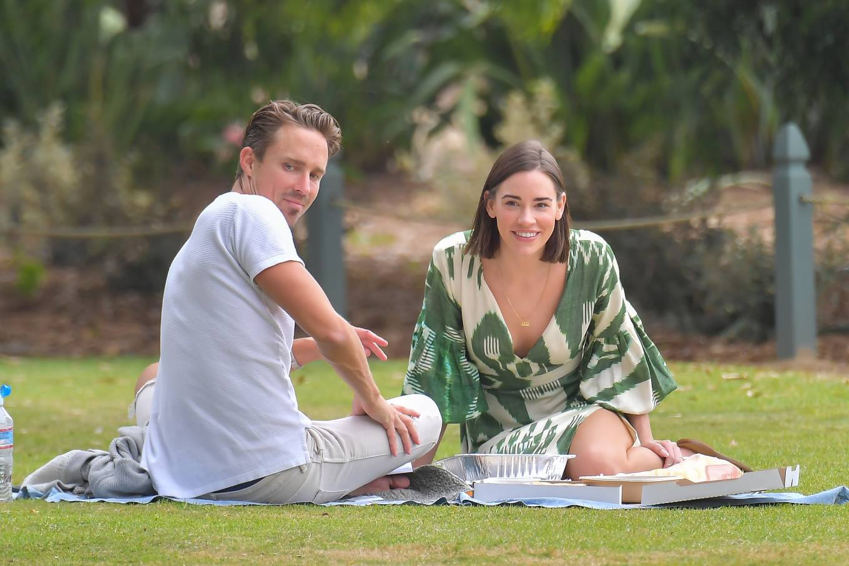 Christa Allen 2020 : Christa Allen – Seen at picnic lunch with a friend in Santa Monica -16