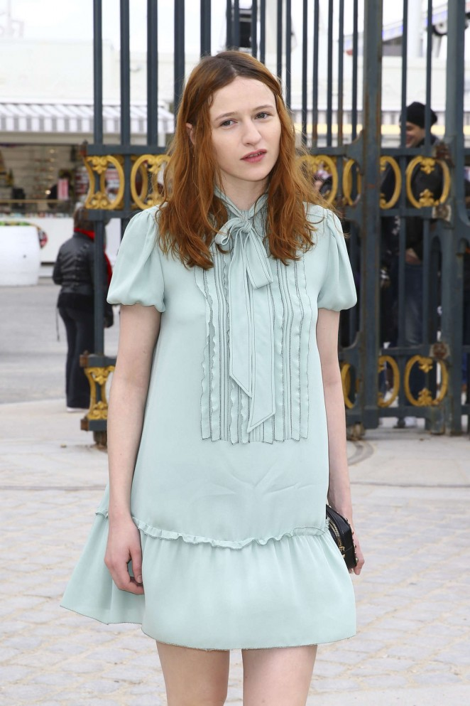 Christa Theret - Valentino Fashion Show 2016 in Paris