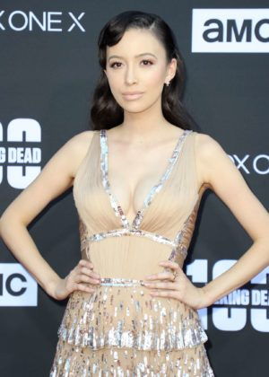 Christian Serratos - 'The Walking Dead' 100th Episode Premiere and Party in LA