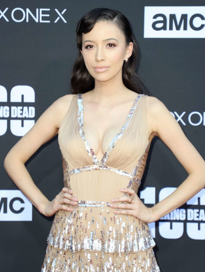 Christian Serratos – 'The Walking Dead' 100th Episode Premiere and Party in LA