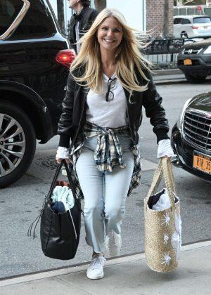 Christie Brinkley Arrives at her hotel in Soho