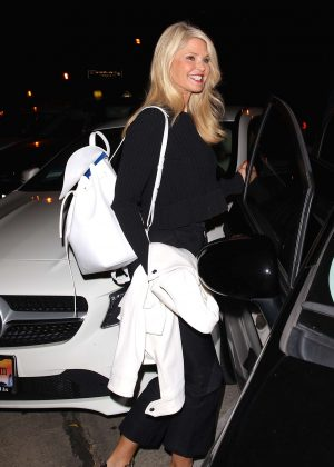 Christie Brinkley at Craig's Restaurant in West Hollywood