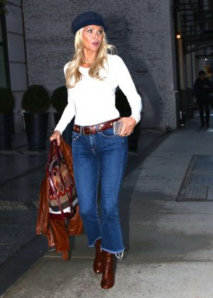 Christie Brinkley in Blue Jeans out in New York