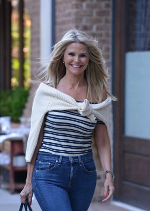 Christie Brinkley in Jeans out in Manhattan