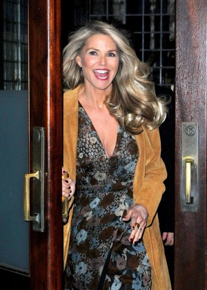 Christie Brinkley Leaves her Tribeca hotel in New York City