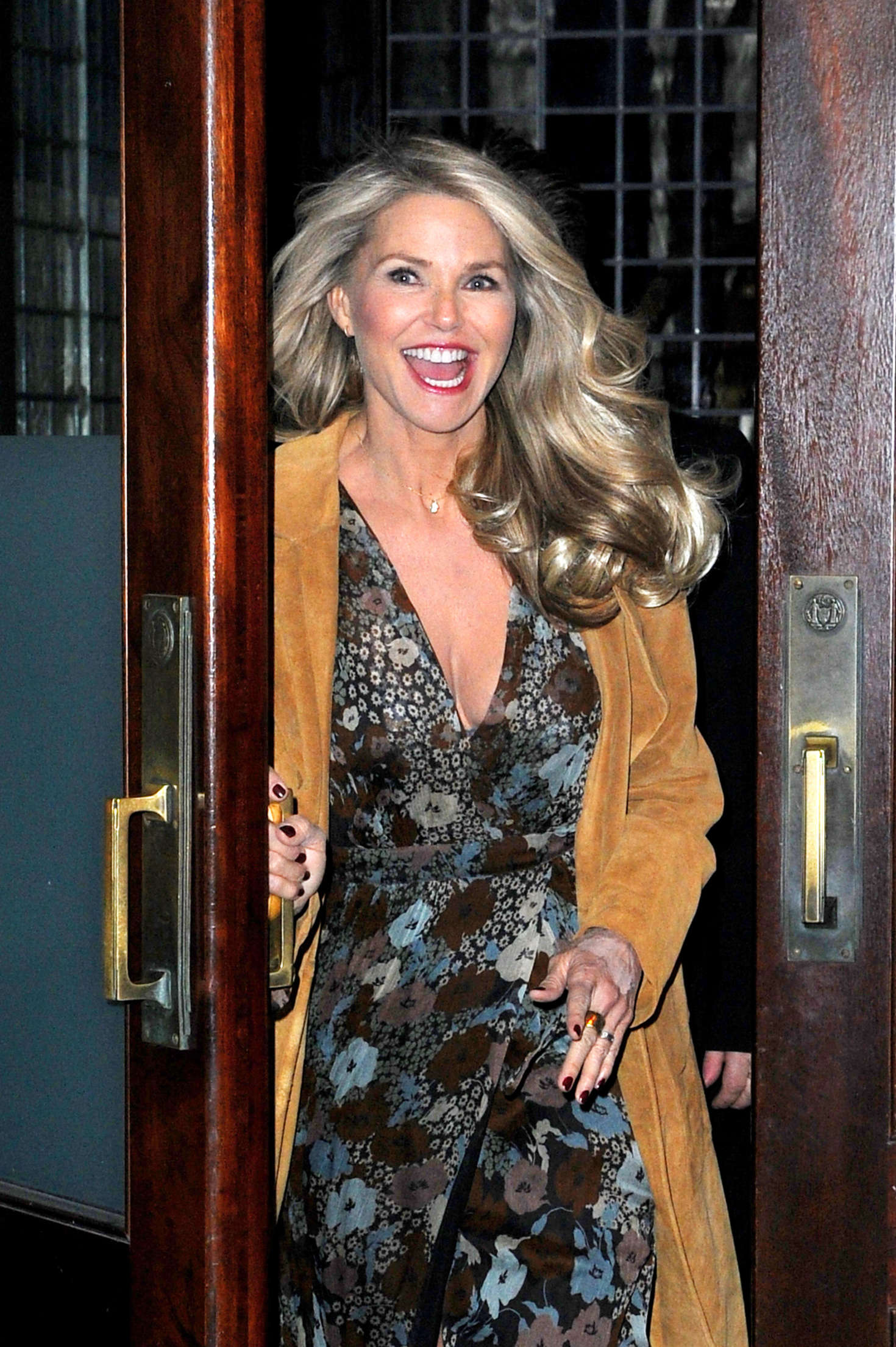 Christie Brinkley Leaves her Tribeca hotel in New York City