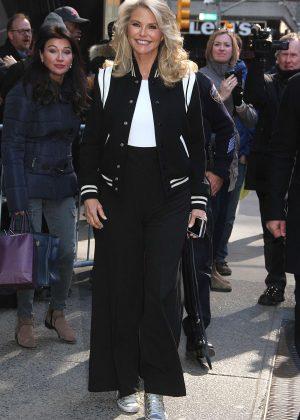 Christie Brinkley - Leaving 'Good Morning America' in New York