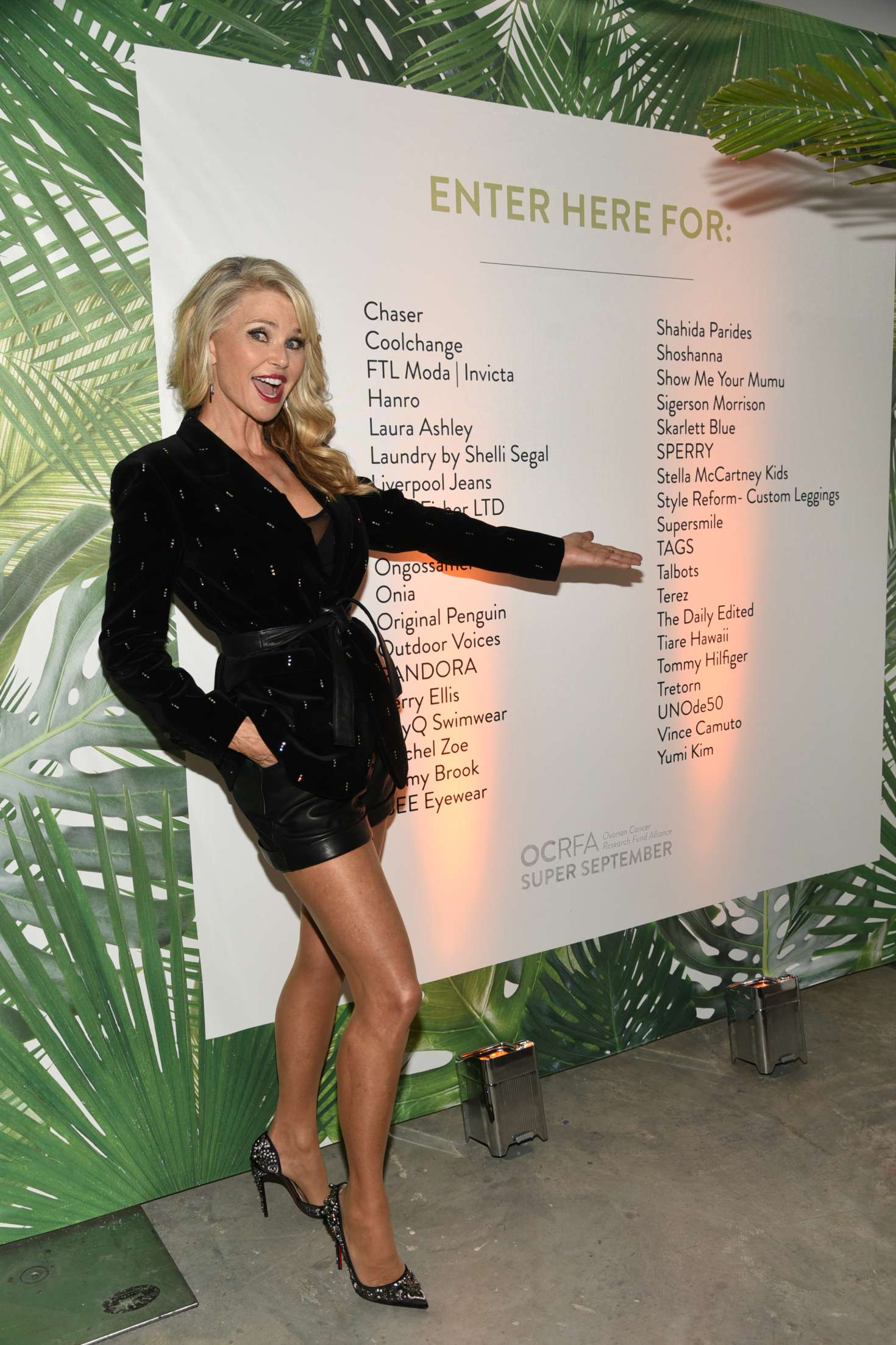 Christie Brinkley The Ovarian Cancer Research Fund Alliance Event 09 Gotceleb