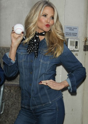 Christie Brinkley - Visits 'HuffPost Live' in New York