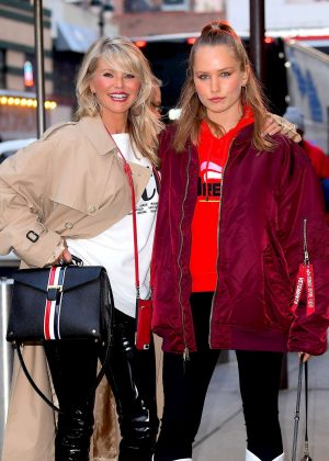 Christie Brinkley with her daughter arriving to the Knicks vs Heat Basketball game in NYC