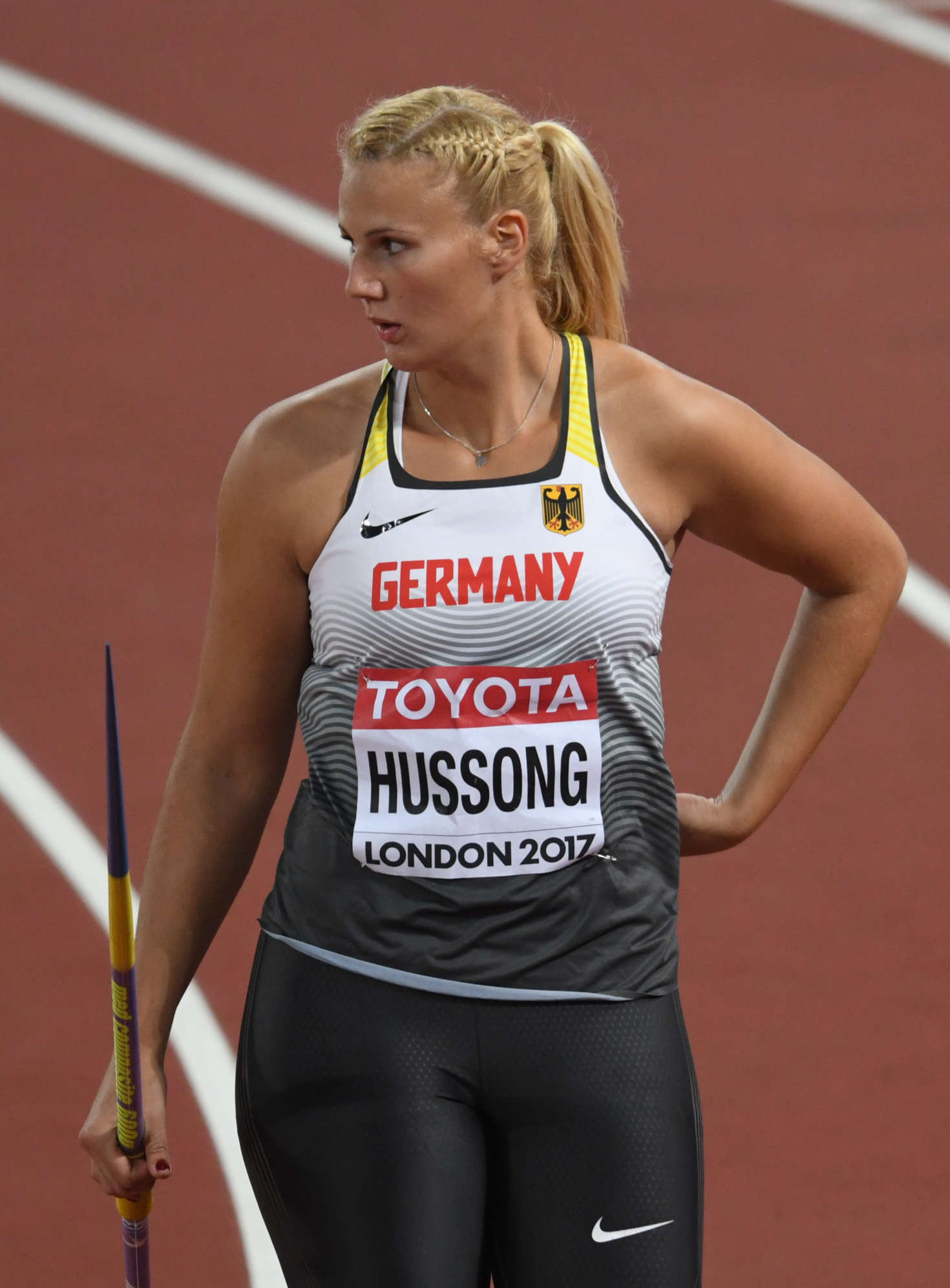 Christin Hussong - Qualifying for the womens javelin at