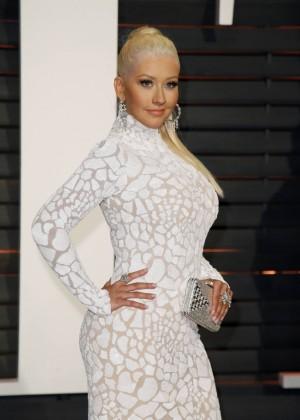 Christina Aguilera - 2015 Vanity Fair Oscar Party in Hollywood