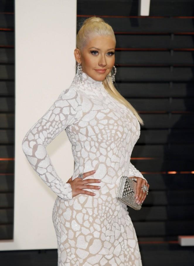 Christina Aguilera – 2015 Vanity Fair Oscar Party in Hollywood