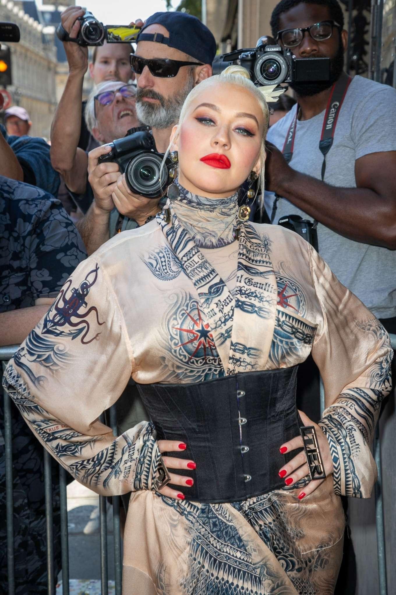 Christina Aguilera 2019 : Christina Aguilera – 2019 Paris Fashion Week – Jean Paul Gaultier Haute Couture FW 2019-20-09