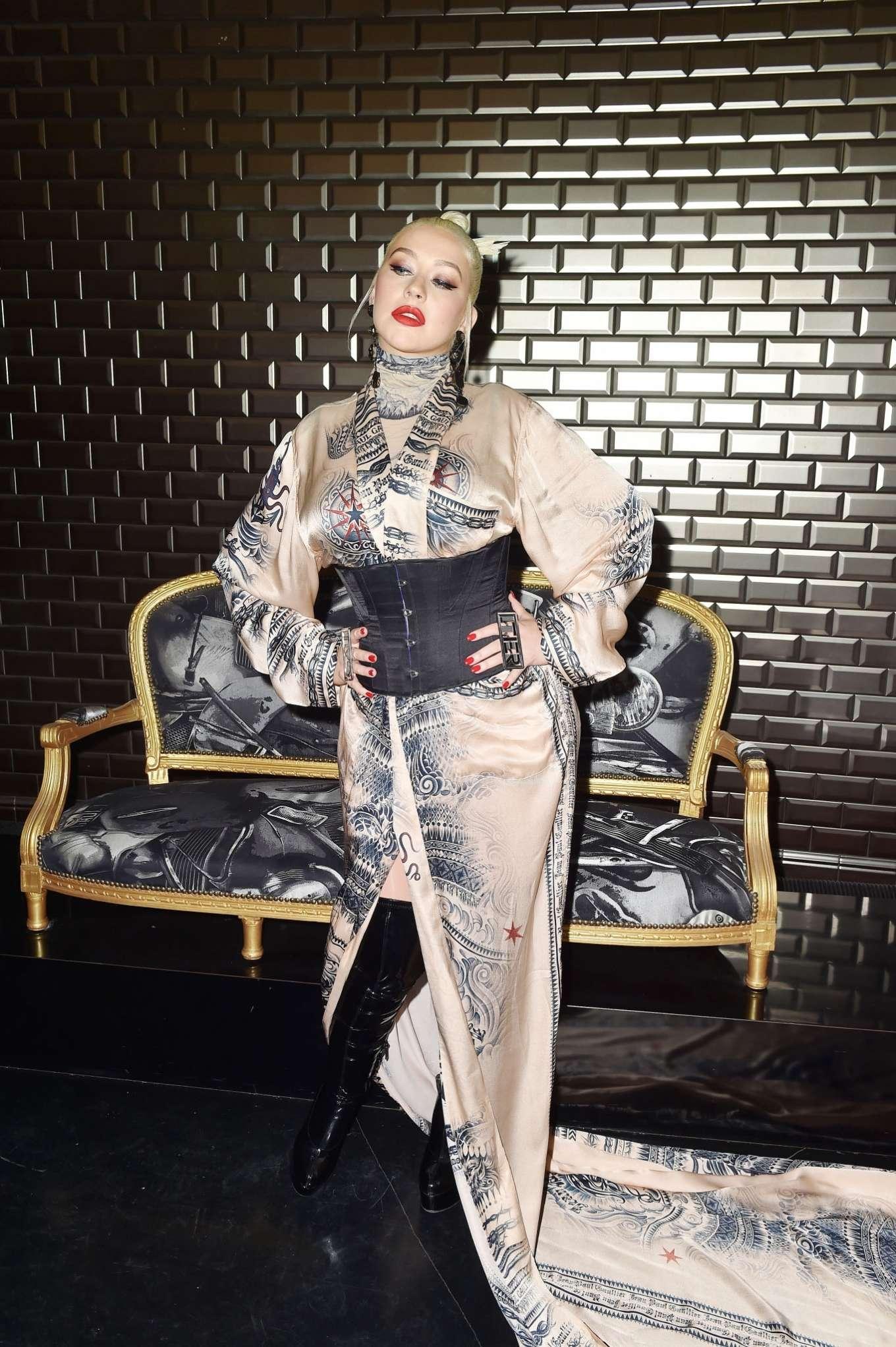Christina Aguilera 2019 : Christina Aguilera – 2019 Paris Fashion Week – Jean Paul Gaultier Haute Couture FW 2019-20-11