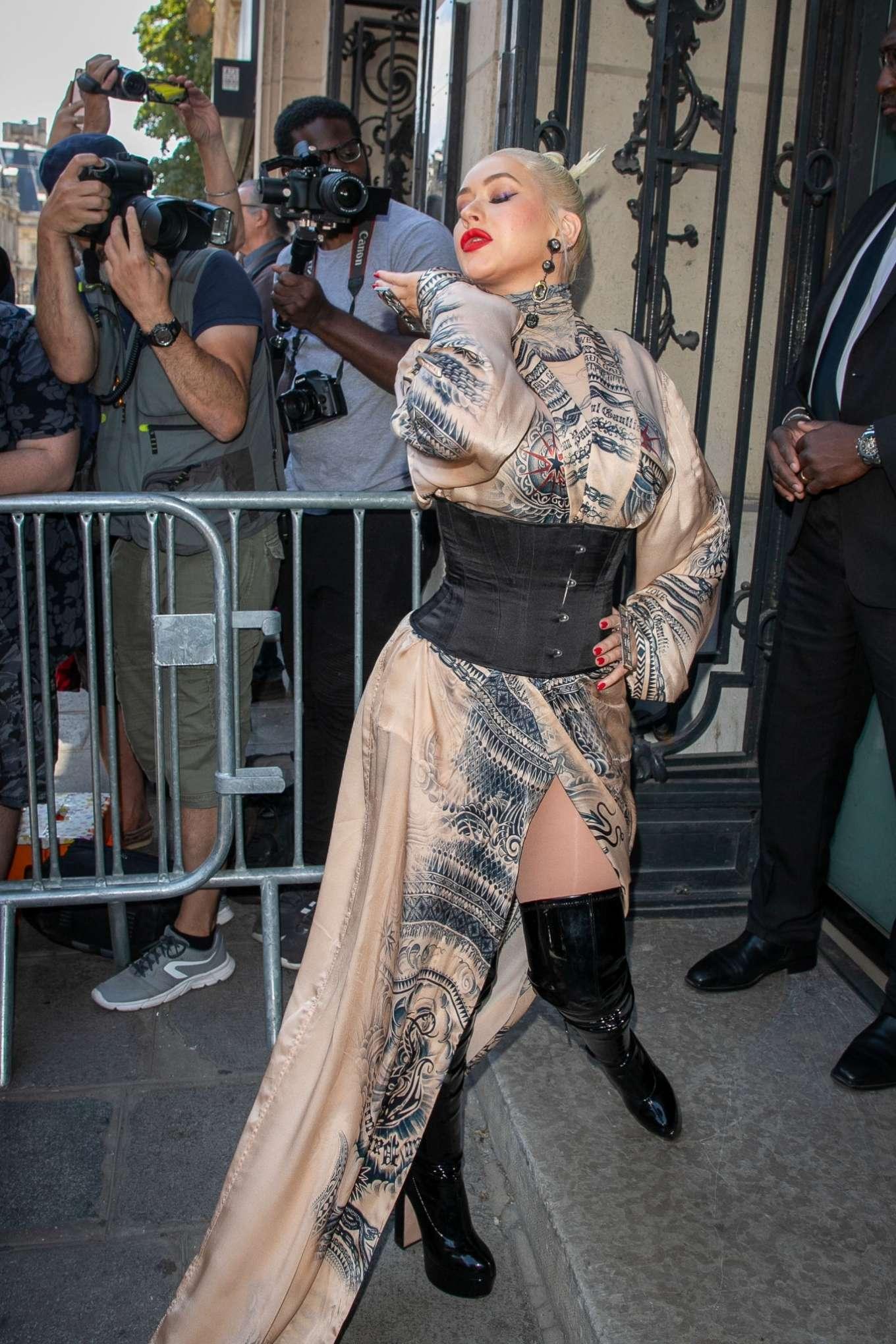 Christina Aguilera 2019 : Christina Aguilera – 2019 Paris Fashion Week – Jean Paul Gaultier Haute Couture FW 2019-20-16