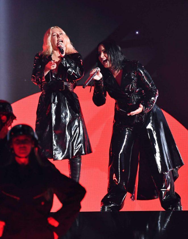 Christina Aguilera and Demi Lovato - Performs at Billboard Music Awards 2018 in Las Vegas