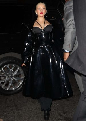 Christina Aguilera - Arrives at 1 OAK Night Club in New York