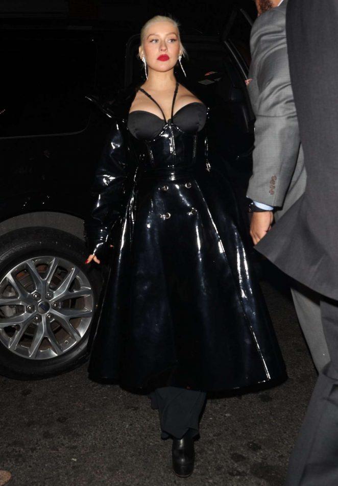Christina Aguilera - Arrives at 1 OAK Night Club in New York