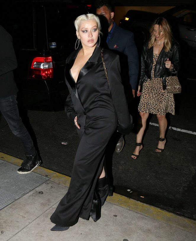 Christina Aguilera - Arriving at her album release party in NYC