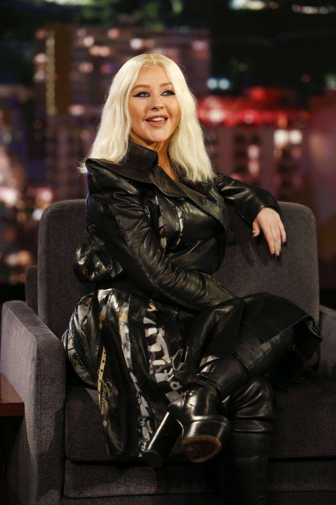 Christina Aguilera at Jimmy Kimmel Live! in Los Angeles