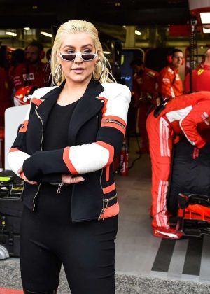 Christina Aguilera at the Grand Prix of Azerbaijan Formula 1 in Baku