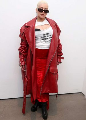 Christina Aguilera - Christian Cowan Fashion Show in NYC