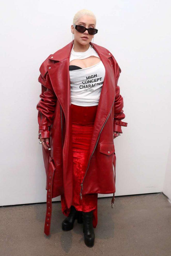 Christina Aguilera - Christian Cowan Fashion Show in NYC