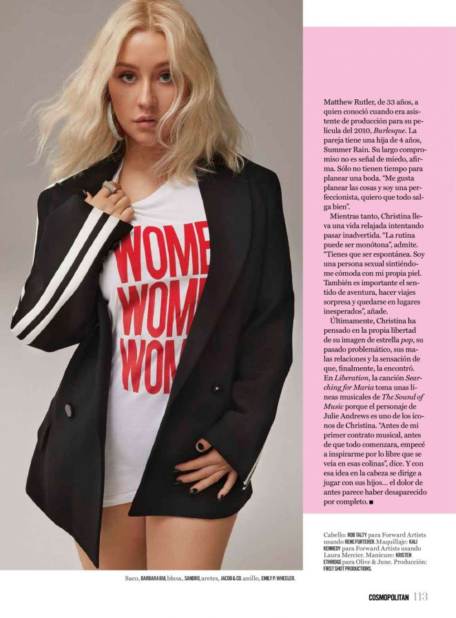 Christina Aguilera – Cosmopolitan Mexico Magazine (October 2018)