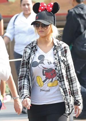 Christina Aguilera at Disneyland in Anaheim