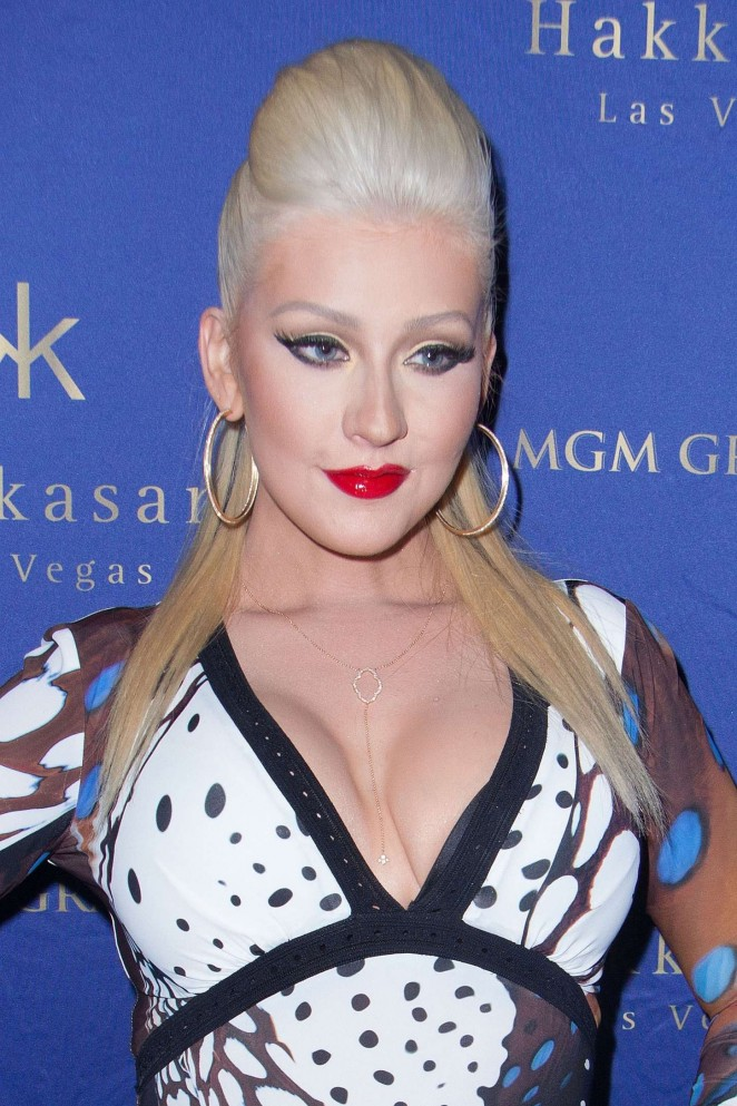 Christina Aguilera - Hakkasan Nightclub's 2nd Year Anniversary Party in Las Vegas