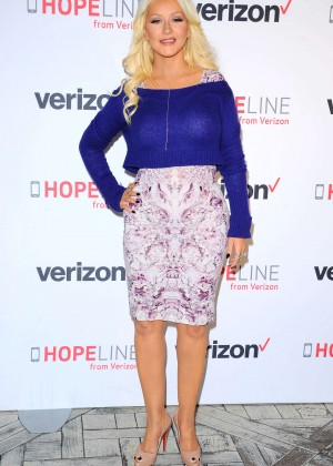 Christina Aguilera - 'HopeLine From Verizon' Event in West Hollywood