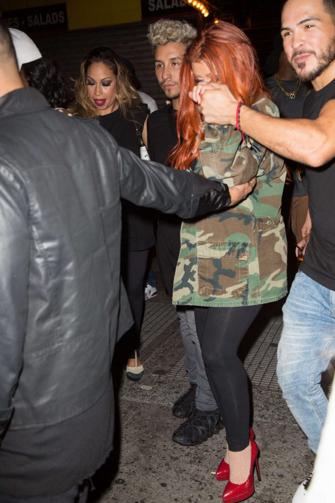 Christina Aguilera Leaving a night club in New York City
