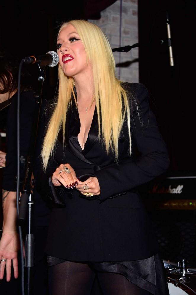 Christina Aguilera – Linda Perry Celebration in Los Angeles
