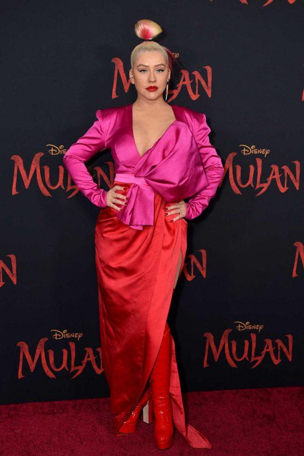 Christina Aguilera - 'Mulan' Premiere in Hollywood