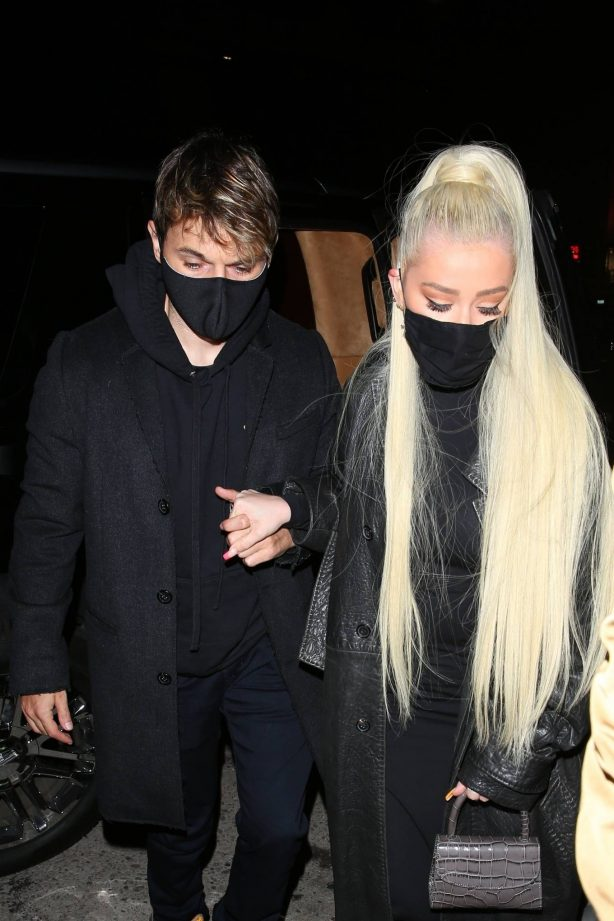 Christina Aguilera - Night out for Matthew Rutler's birthday at The Nice Guy in West Hollywood