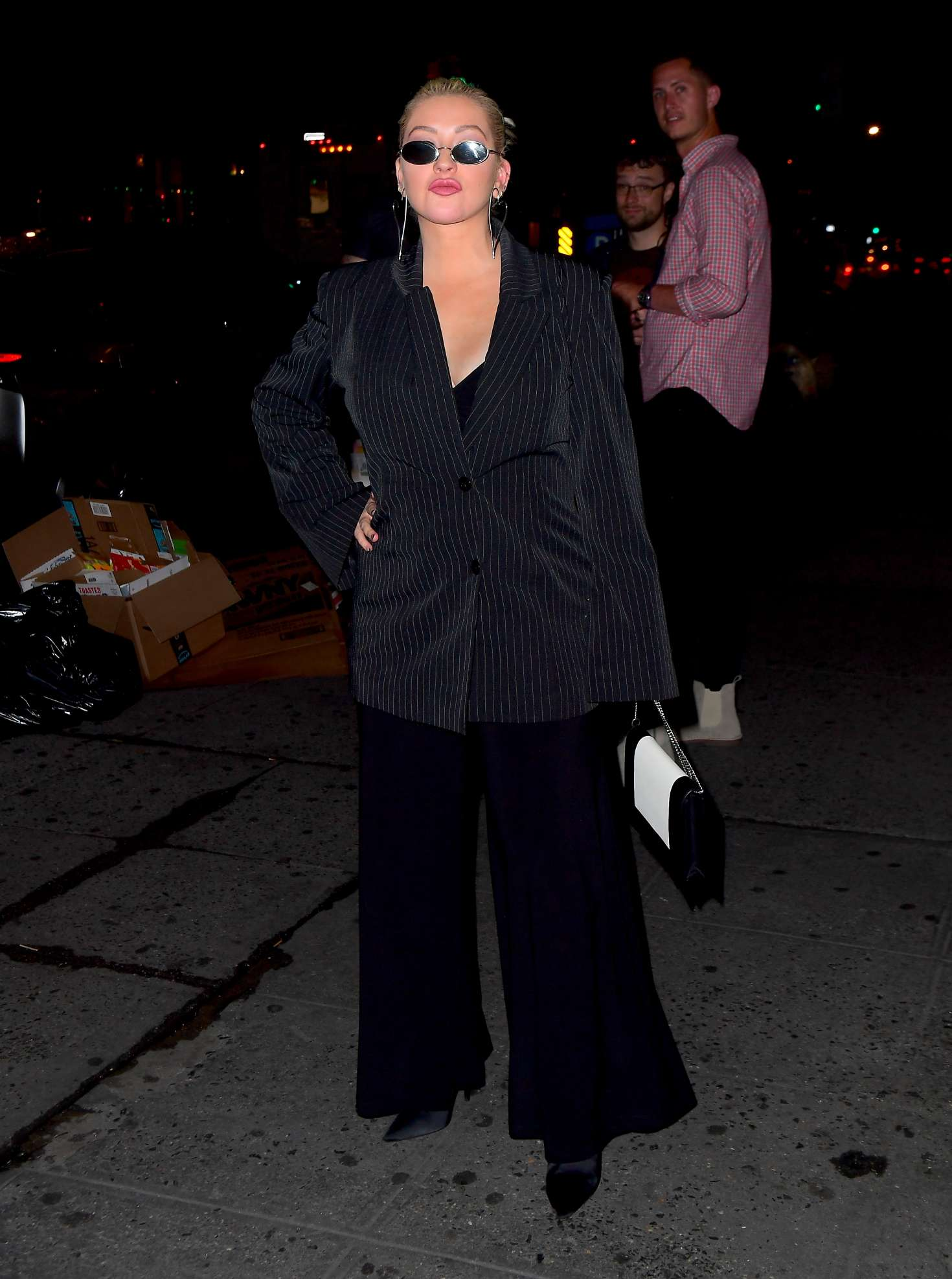 Christina Aguilera - Night out in New York