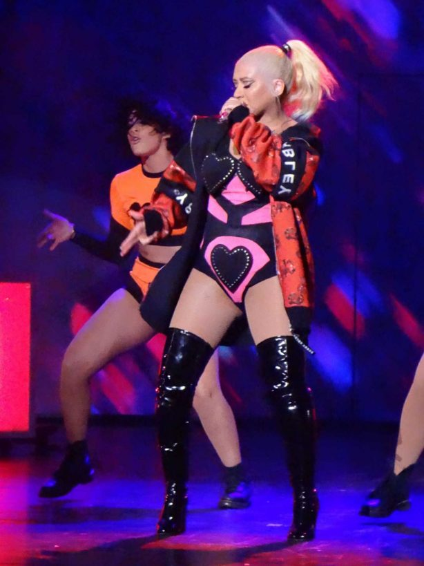 Christina Aguilera - Performs on stage for her Las Vegas Show