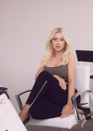 Christina Aguilera - Photoshoot for Lidl (December 2018)