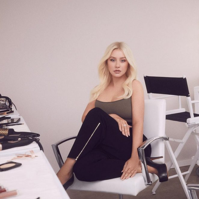 Christina Aguilera - Photoshoot for Lidl (December 2018)
