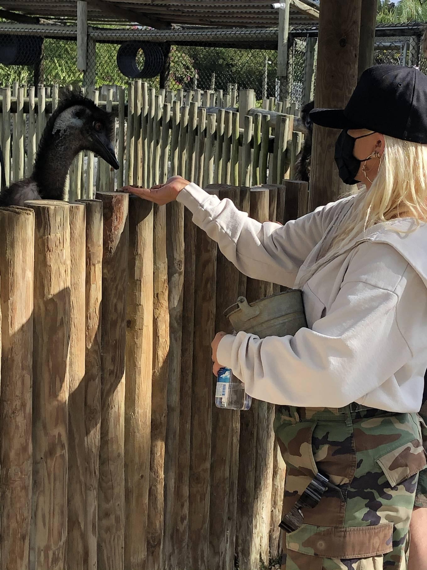 Christina Aguilera - With Matthew Rutler seen at Everglades Alligator Farm in Florida