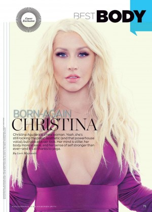 Christina Aguilera - Womens Health Magazine (March 2016) adds