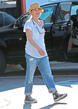 Christina Applegate in Jeans at Brentwood County Mart in ...