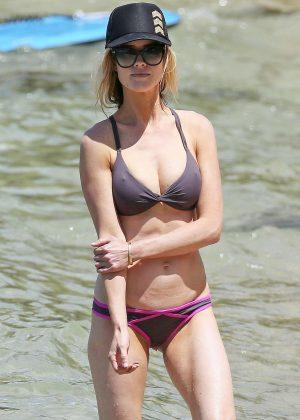 Christina El Moussa in Bikini on the beach in Maui