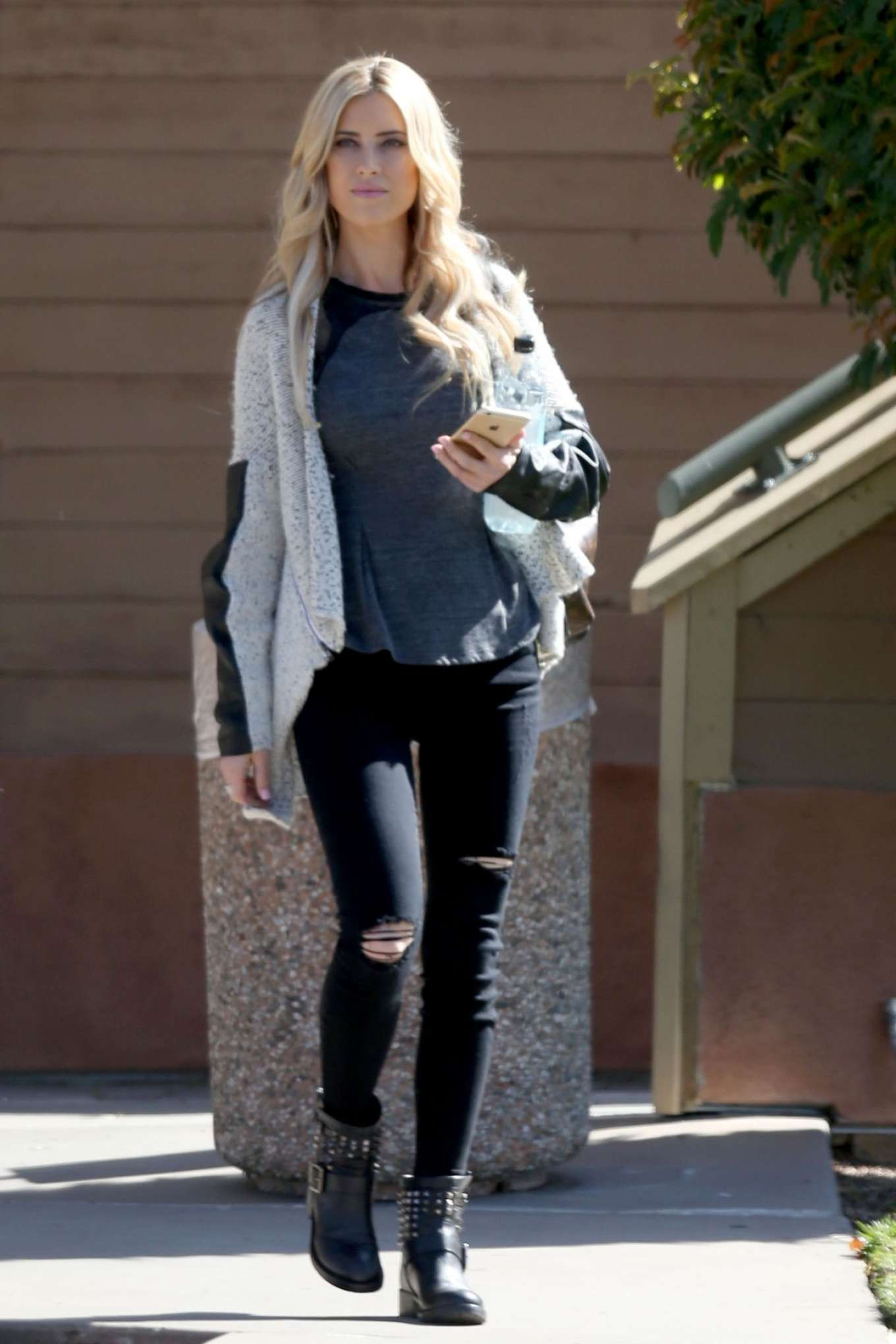 christina el moussa in black jeans out in los angeles