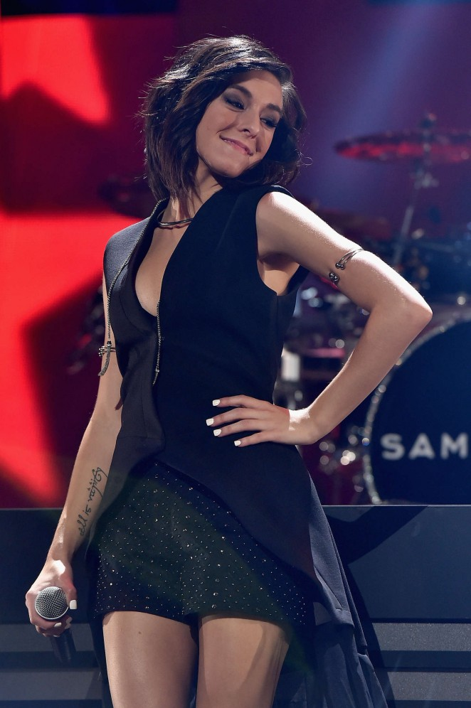 Christina Grimmie - Performs at 2015 iHeartRadio Music Festival in Las Vegas