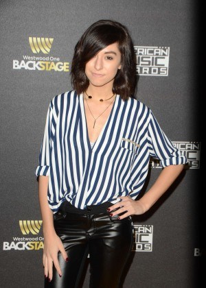 Christina Grimmie - American Music Awards Radio Row Day 1 in LA