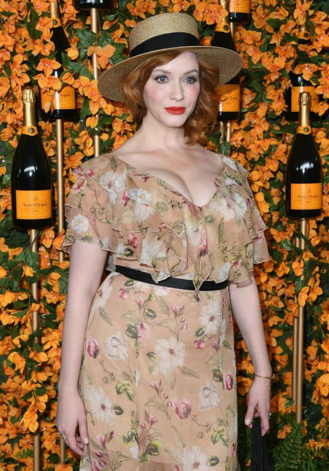 Christina Hendricks – 2018 Veuve Clicquot Polo Classic in Los Angeles